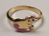 Baby Rings - Jewelry Stores - Kitten Baby Ring 12 mm Inner Diameter