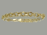 Gold But Gold - Jewelry Stores - Semi-Hollow Charm Bracelet 6 mm
