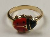 Gold But Gold - Jewelry Stores - Lady Bug Baby Ring 12 mm Inner Diameter