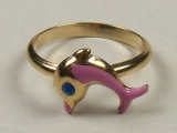 Baby Rings - Jewelry Stores - Dolphin Baby Ring 12 mm Inner Diameter