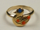 Baby Rings - Jewelry Stores - Duck Baby Ring 12 mm Inner Diameter