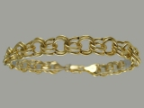 Gold But Gold - Jewelry Stores - Semi-Hollow Charm Bracelet 8.5 mm