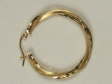 Yellow Gold Hoops - Jewelry Stores - Hoops, 29 mm