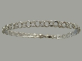 White Gold Bracelets - Jewelry Stores - Charm Bracelet 5 mm