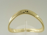 Bands and Rings - Jewelry Stores - Diamond Cut Yellow Gold Thumb Ring 3 mm