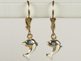 Baby Earrings - Jewelry Stores - Dolphin Baby Earrings Lever Back