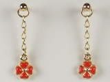 - Jewelry Stores - Heart/ Flower Baby Earrings