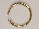 Yellow Gold Hoops - Jewelry Stores - Hoops 35 mm