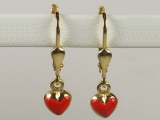 Baby Earrings - Jewelry Stores - Heart Baby Earrings Lever Back