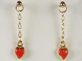 Baby Earrings - Jewelry Stores - Heart Baby Earrings