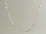 White Gold Chains - Jewelry Stores - 10K Twisted Singapore Chain 2 mm