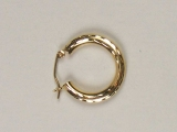 Yellow Gold Hoops - Jewelry Stores - Hoops 19 mm