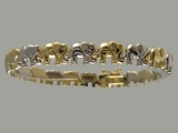 Gold But Gold - Jewelry Stores - Elephant Bracelet Two Tones (white & yellow) Gold