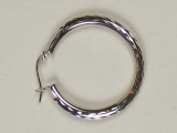 White Gold Hoops - Jewelry Stores - Hoops 28 mm