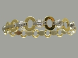 Gold But Gold - Jewelry Stores - Two Tones Rings Ball Bracelet (white & yellow) Gold