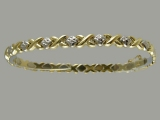 Gold But Gold - Jewelry Stores - Two Tones X O (hugs & kisses) Bracelet (white & yellow) Gold