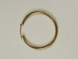 Yellow Gold Hoops - Jewelry Stores - Hoops 25 mm