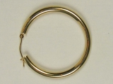 Yellow Gold Hoops - Jewelry Stores - Hoops 50 mm