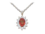 Ruby Pendant - Jewelry Stores - Genuine 13-Stone Oval Cluster Red Ruby Pendant
