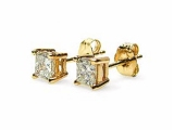 Jewels But Jewels - Jewelry Stores - 4 Prong Princess Cut Earrings