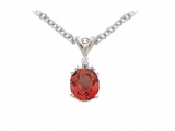 Ruby Pendant - Jewelry Stores - Genuine Red Ruby Oval Pendant