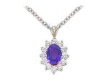 Sapphire Pendant - Jewelry Stores - Genuine 13-Stone Oval Cluster Blue Sapphire Pendant