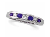 Sapphire Rings - Jewelry Stores - Diamond and Sapphire Anniversary Band