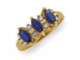 Jewels But Jewels - Jewelry Stores - Genuine Sapphire and Diamond Anniversary Ring