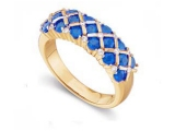 Sapphire Rings - Jewelry Stores - Genuine Blue Sapphire and Diamond Ring