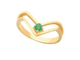 Emerald Rings - Jewelry Stores - Genuine Green Emerald Ring