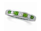 Emerald Rings - Jewelry Stores - Diamond and Emerald Anniversary Band