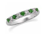 Jewels But Jewels - Jewelry Stores - Diamond and Emerald Anniversary Band