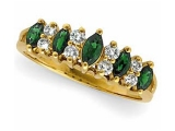 Emerald Rings - Jewelry Stores - Emerald and Diamond Ring