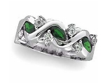 Jewels But Jewels - Jewelry Stores - Genuine Emerald and Diamond Anniversary Ring