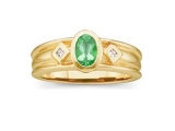 Jewels But Jewels - Jewelry Stores - Genuine Green Emerald and Diamond Ring