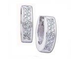 Diamond Earrings - Jewelry Stores - Hinged Diamond Fashion Earrings