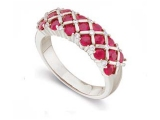 Jewels But Jewels - Jewelry Stores - Genuine Red Ruby and Diamond Ring