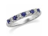 Tanzanite Rings - Jewelry Stores - Diamond and Tanzanite Anniversary Band
