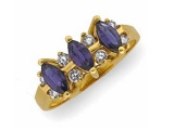 Tanzanite Rings - Jewelry Stores - Genuine Tanzanite and Diamond Anniversary Ring