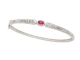 Jewels But Jewels - Jewelry Stores - Ruby and Diamond Accent Bangle Bracelet