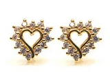 Diamond Earrings - Jewelry Stores - Diamond Fashion Heart Earrings