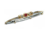 Jewels But Jewels - Jewelry Stores - Three Stone Diamond and Ruby Two-tone Gold Accented Bangle