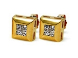 Diamond Earrings - Jewelry Stores - Diamond Fashion Princess Cut Invisible Set Earrings