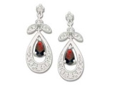 Ruby Earrings - Jewelry Stores - Genuine Red Ruby and Diamond Earrings