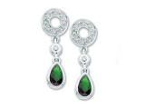 Jewels But Jewels - Jewelry Stores - Genuine Green Emerald and Diamond Earrings