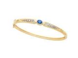 Jewels But Jewels - Jewelry Stores - Tanzanite and Diamond Accent Bangle Bracelet