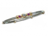 Jewels But Jewels - Jewelry Stores - Three Stone Diamond and Tanzanite Two-tone Bangle