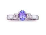 3 Stone Sapphire Ring - Jewelry Stores - Genuine Blue Sapphire and Diamond 3 Stone Ring