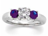 3 Stone Tanzanite Rings - Jewelry Stores - 3 Stone Aniversary Diamond and Tanzanite Ring