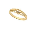 Diamond Promise Ring - Jewelry Stores - Diamond Accented Heart Band